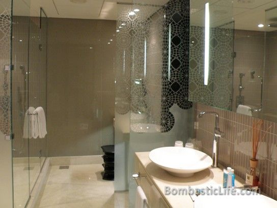 Bathroom in the Wow Suite in The W Hotel Doha in Doha, Qatar