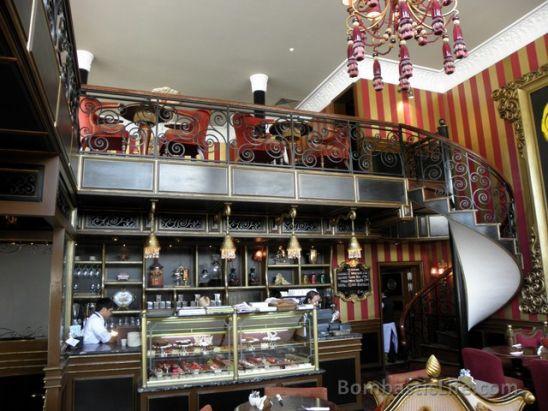 Interior of cafe lilou adliya bahrain